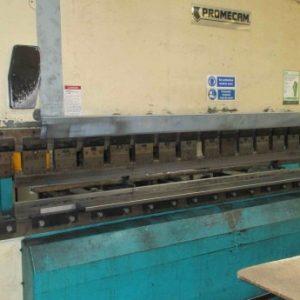 Promecam Rg cnc pressbrake with Hurco control and back gauge 4metre x 250ton cnc pressbrake