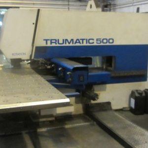 Used Trumpf Trumatic 500 Rotation Punch Press