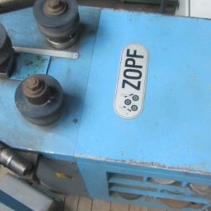 Zopf ZB 70/2 Gmbh Tube section rolling machine