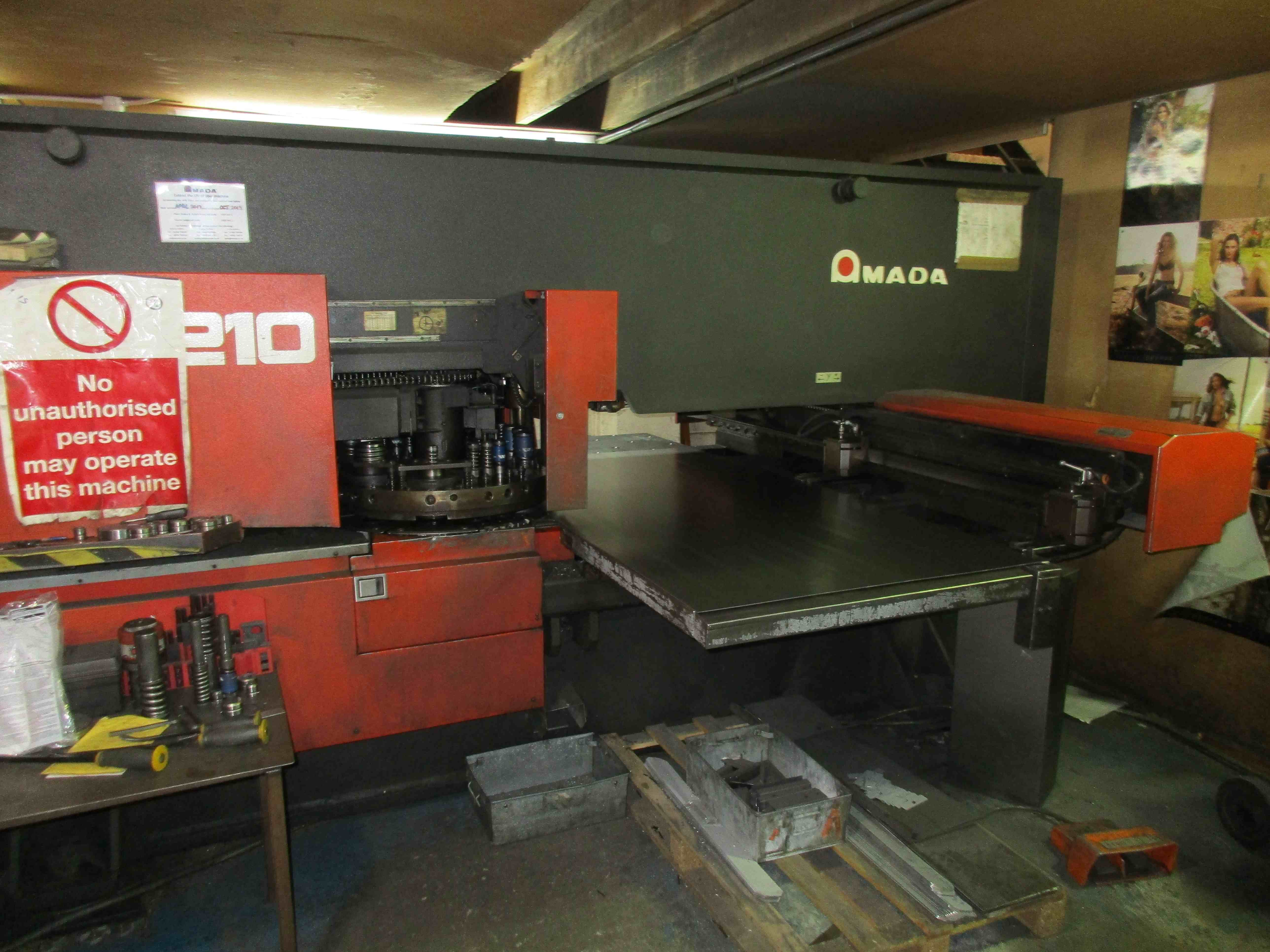 Amada Arcade 210 Cnc Punch Press Machine Uk