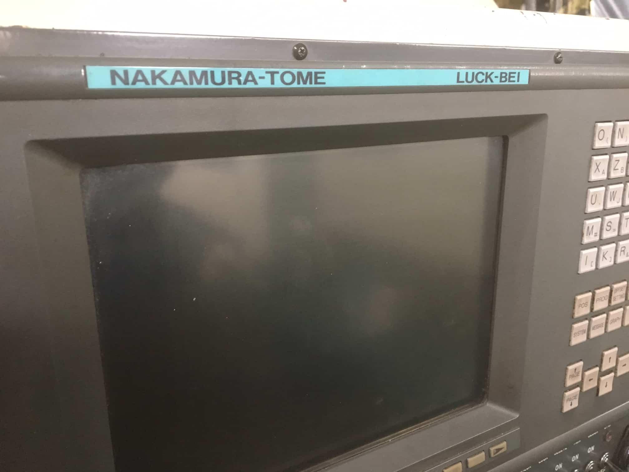 Used Nakamura Tome Tw 20mm Cnc Lathe 1999