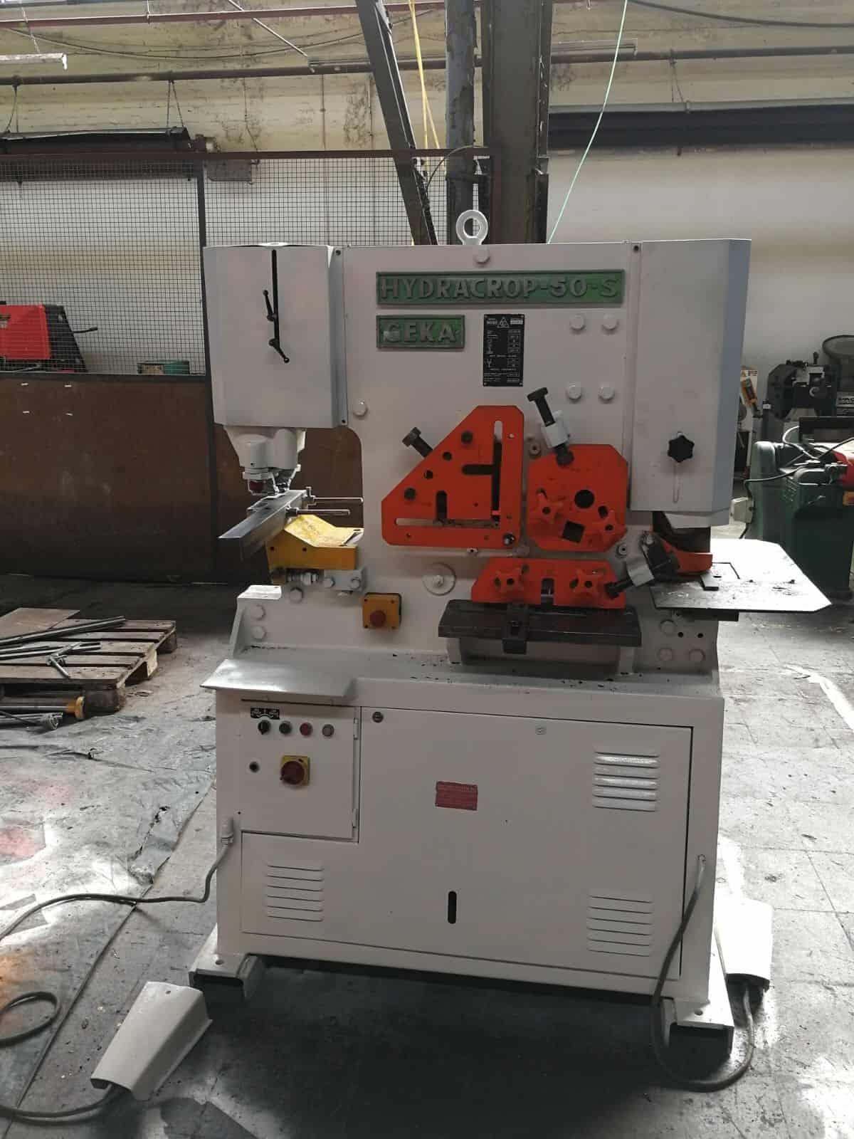 Geka Hydracrop 50 S 50 Ton Hydraulic Iron Worker