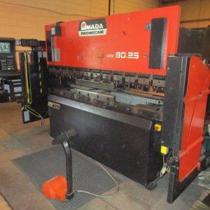 Used Amada APX 8025 7 Axis CNC Hydraulic pressbrake for sale