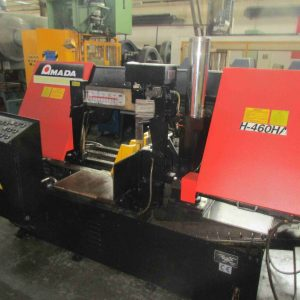 Used Amada h-460 HA horizontal industrial bandsaw for sale