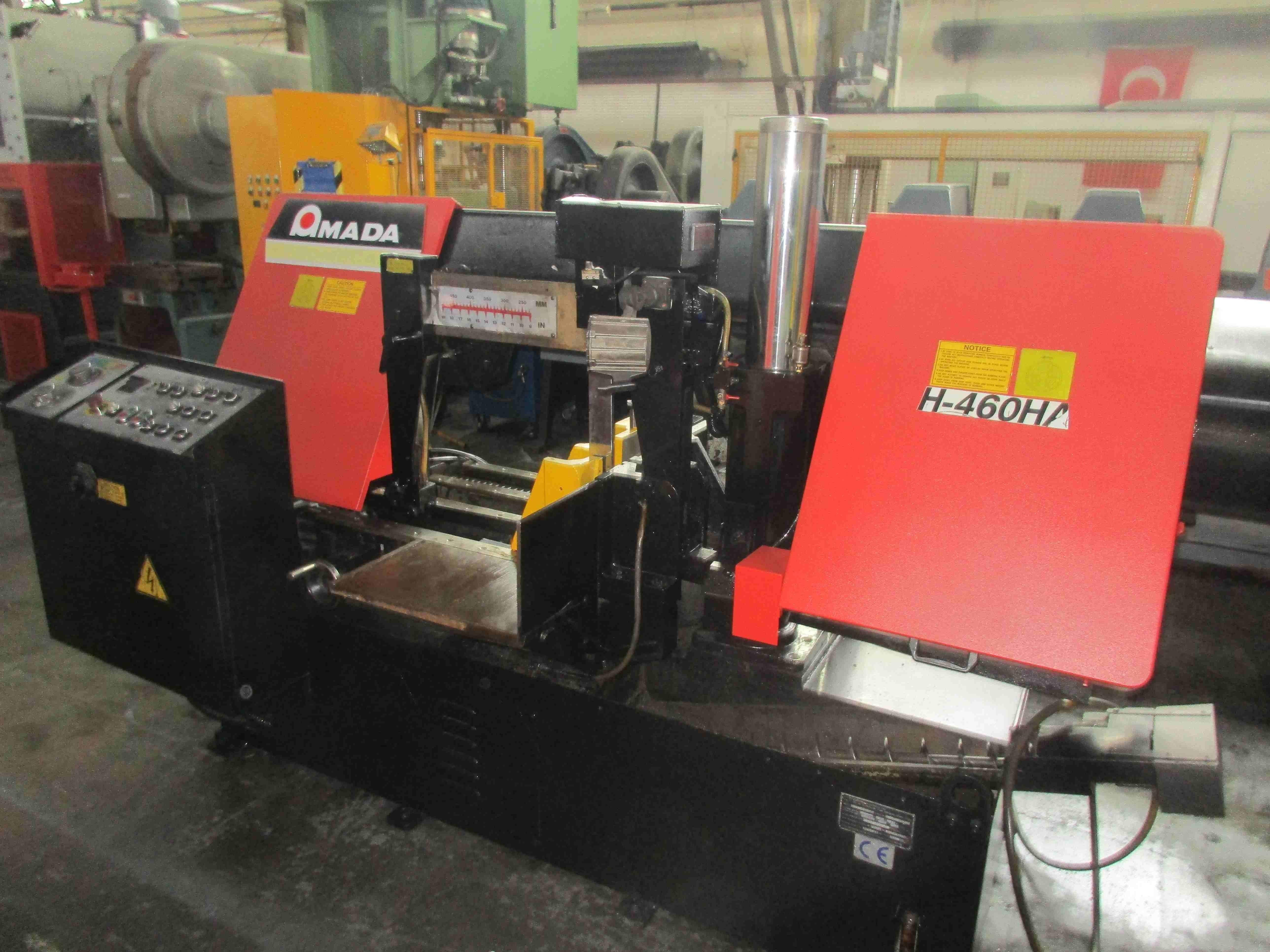 Used Amada H 460 Ha Horizontal Industrial Bandsaw For Sale